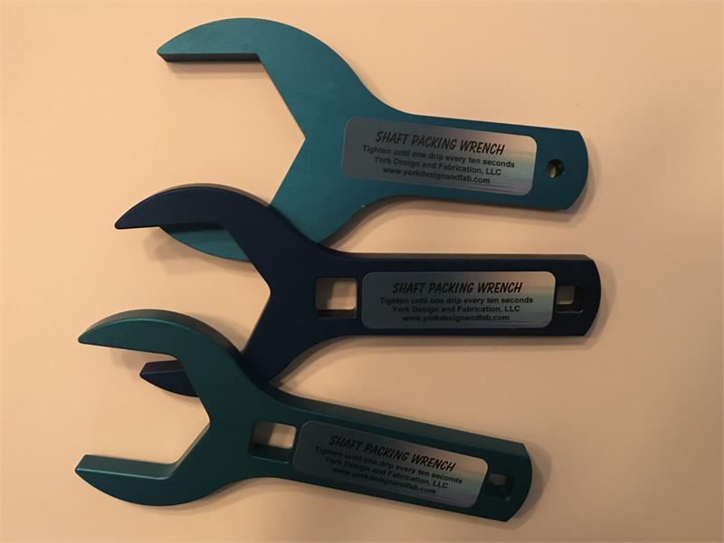 """2-1//4/"""" Shaft Packing Wrench for /""""Rudder Stuffing Box/"""""""